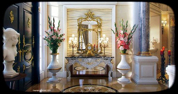 Lüks Klasik Tasarım Villa Dekorasyonu