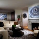 Beyaz lüks oturma odası dekorasyon fikirleri