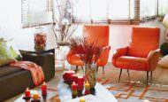 Beyaz Ve Mandalina Turuncusu Renk Düzeni