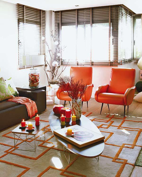 mandalina-rengi-berjer beyaz ve mandalina turuncusu renk düzeni