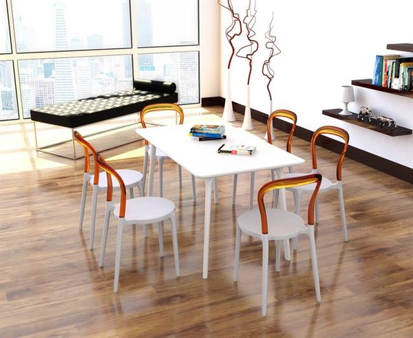 siesta plastik masa sandalye takımı
