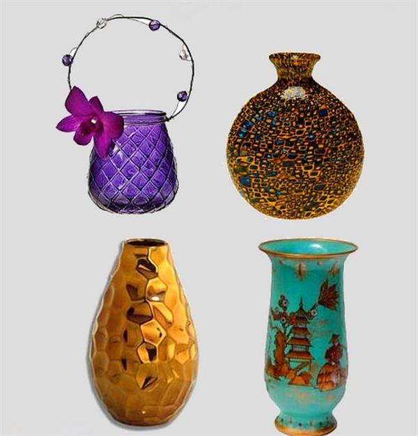 Dekoratif cam ve porselen vazo modelleri 7