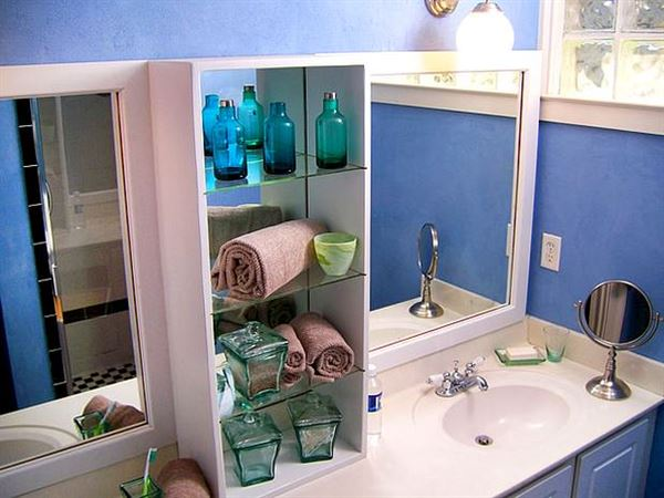 banyo depolama alanları dekorasyon stilleri - mavi banyo dekoru - Banyo Depolama Alanları Dekorasyon Stilleri