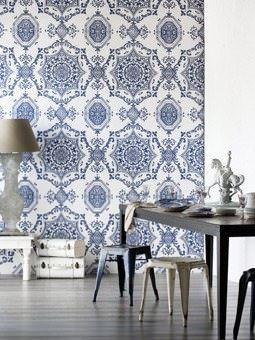retro desenli duvar kağıt yeni tasarım duvar kağıt desenleri ve renkleri - mavi beyaz desenli ithal kagit - Yeni Tasarım Duvar Kağıt Desenleri Ve Renkleri