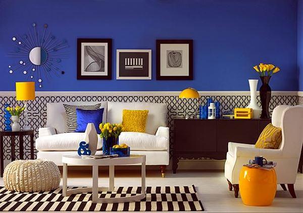 mavi-boya-beyaz-desenli-duvar-kagit-kombini
