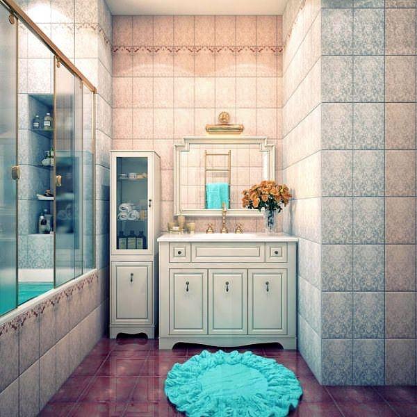 Ultra Lüks Dekorasyonlu Banyo Örnekleri 17