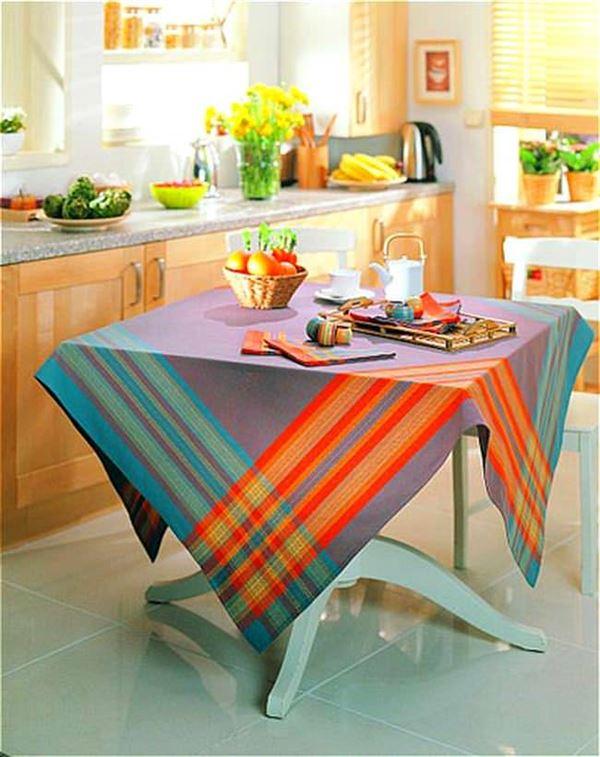 Kumaş Yemek Masa Örtüsü Modelleri 4