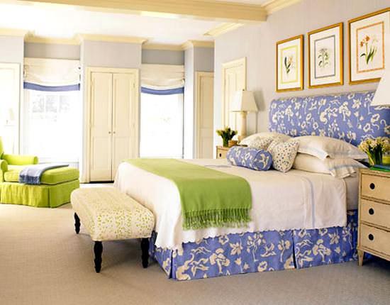 mavi yatak odası dekoraları