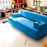 renkli koltuk takımlarıyla oda dekorasyonu - mavi renkli kanepe 150x150
