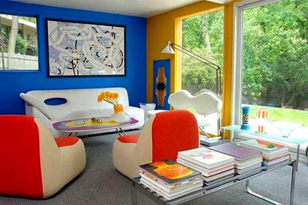 mavi-sari-ic-dekorasyon 2013 yılına Özel dekorasyon fikirleri - mavi sari ic dekorasyon