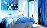Mavi Renk Yatak Odası Dekorasyon Fikirleri