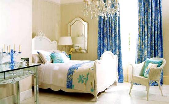 mavi renkli çocuk odası dekorasyon