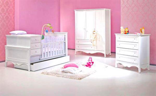 bebek-odasi-mobilyalari bebek odası yeni tasarım modelleri - meltem bebek besik modeli beyaz - Bebek Odası Yeni Tasarım Modelleri