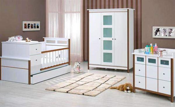 bebek-odasi-mobilyalari bebek odası yeni tasarım modelleri - meltem beyaz kahve bebek odasi - Bebek Odası Yeni Tasarım Modelleri