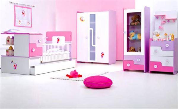 bebek-odasi-mobilyalari bebek odası yeni tasarım modelleri - meltem beyaz pembe bebek takimi - Bebek Odası Yeni Tasarım Modelleri
