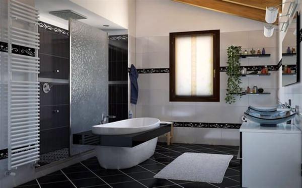 modern yenilikçi banyo dekorasyon stilleri - modern beyaz banyo - Modern Yenilikçi Banyo Dekorasyon Stilleri
