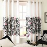 dekoratif perde desenleri ve modelleri - modern beyaz desenli perde 150x150
