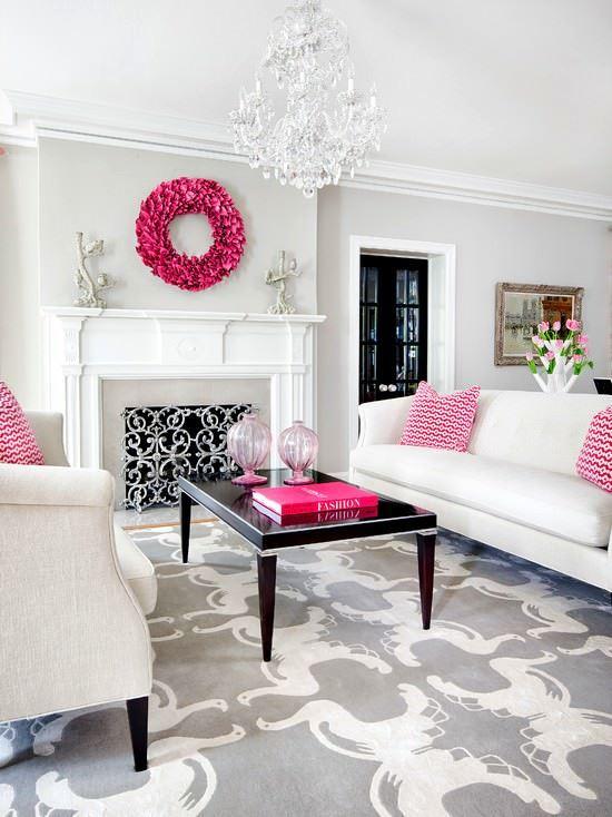 Dekoratif Renkli Oturma Odası Dekorasyon Fikirleri 2