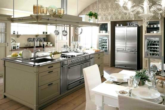 avangard ve contry tarzı ev dekorasyon modeli - modern dizayn mutfak