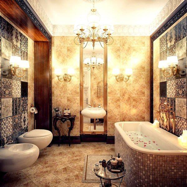 Ultra Lüks Dekorasyonlu Banyo Örnekleri 21