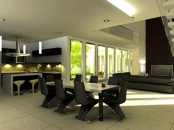 Modern Lüks Yemek Odası Tasarımları 9
