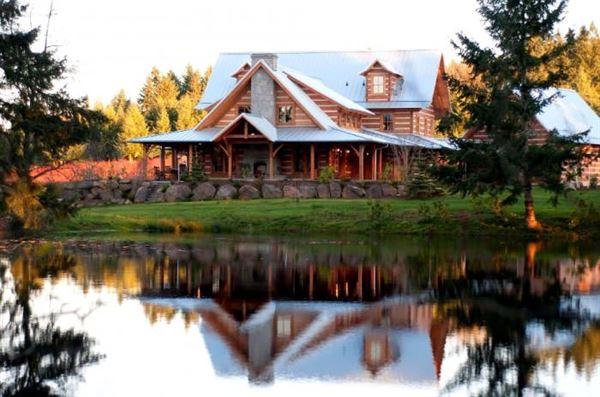 kütük ev modelleri muhteşem doğal ahşap ev tasarımları