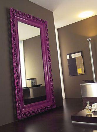 Büyük Modern Boy Aynası Modelleri boy aynası modelleri - modern mor buyuk ayna modeli - Büyük Modern Boy Aynası Modelleri