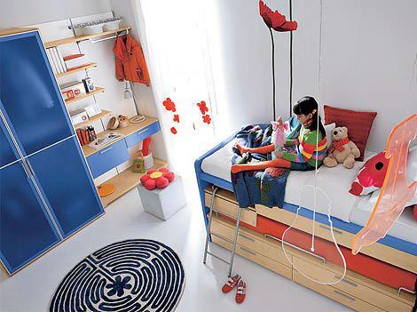 çocuk odası ranza modelleri fonksiyonel renkli ranzalı genç odaları