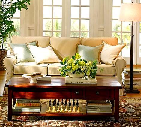 Çağdaş Hoş Sohbet Oturma Odası Dekorasyonu 3