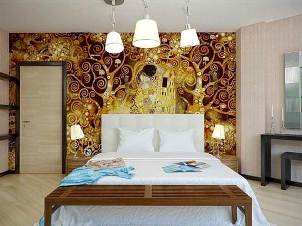 Dekoratif Yatak Odası Duvar Süsleme Örnekleri 7