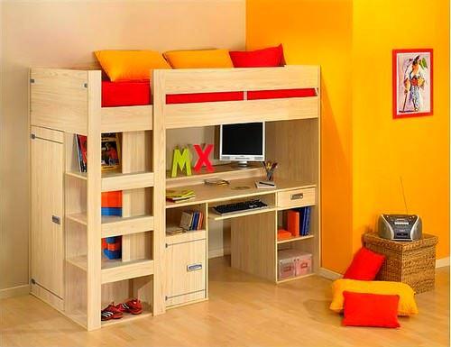 Kabinli Çocuk Odası Yatak Modelleri 14