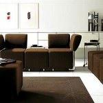 renkli koltuk takımlarıyla oda dekorasyonu - moduler kahve rengi kanepe 150x150