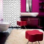 mor ve lila renkli oda renk dekorasyonları - mor renkli banyo 150x150 - Mor ve Lila Renkli Oda Renk Dekorasyonları