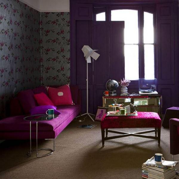 Mor ve Lila Renkli Oda Renk Dekorasyonları 8