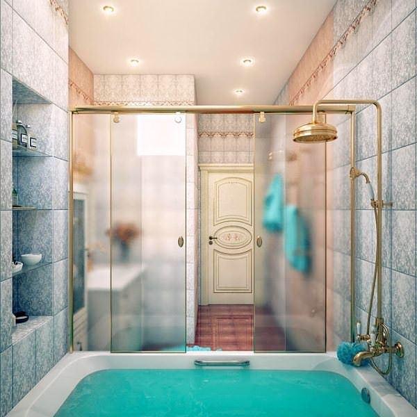 Ultra Lüks Dekorasyonlu Banyo Örnekleri 22