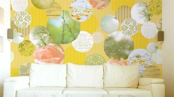 geometrik desenli duvar kağıt desenleri