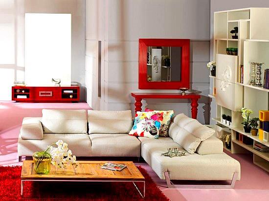 modern renkli mobilya dekorasyon stilleri