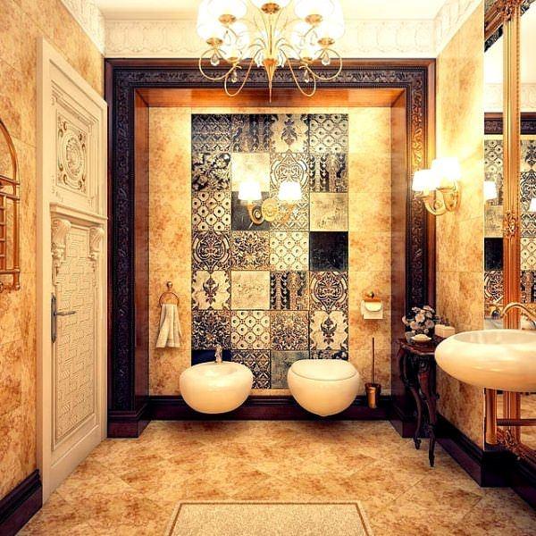 Ultra Lüks Dekorasyonlu Banyo Örnekleri 24