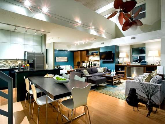 Renkli BoConcept Oturma Odası Dekorasyon Fikirleri 8