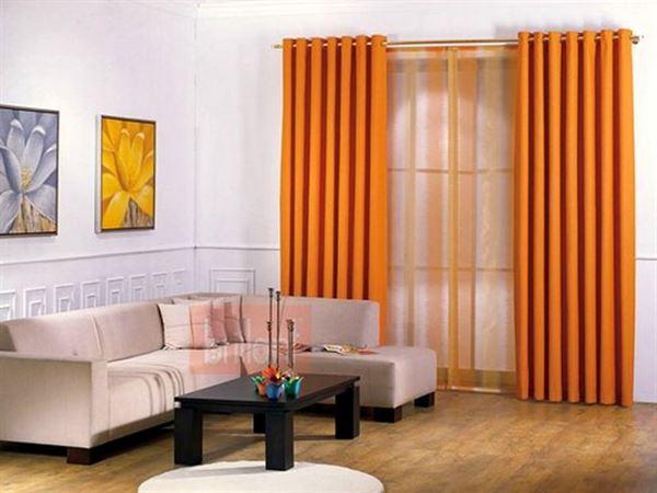 pileli turuncu perde