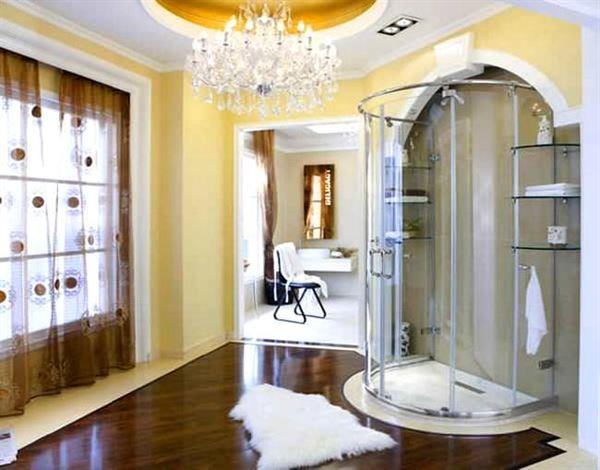 buharlı modern duşa kabin modelleri - oval luks dusakabin - Buharlı Modern Duşa Kabin Modelleri