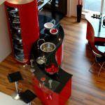 Kırmızı Modern Mutfak Tasarımı