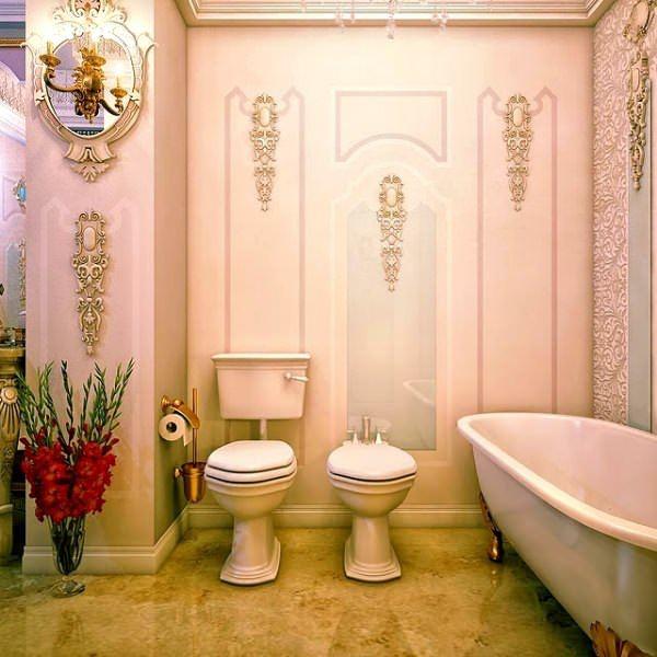 Ultra Lüks Dekorasyonlu Banyo Örnekleri 25