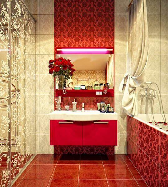 Ultra Lüks Dekorasyonlu Banyo Örnekleri 26