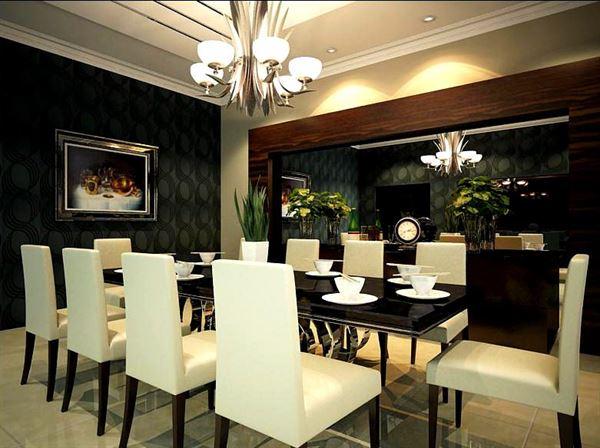 Modern Lüks Yemek Odası Tasarımları 11