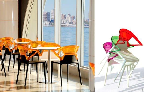 Dekoratif Modern Plastik Sandalye Modelleri 4
