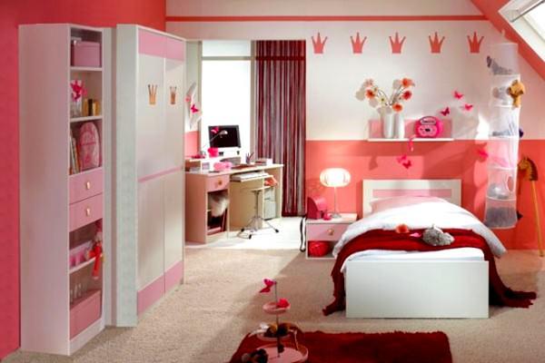 Pembe Renkli Kız Çocuk Odası Modelleri 1