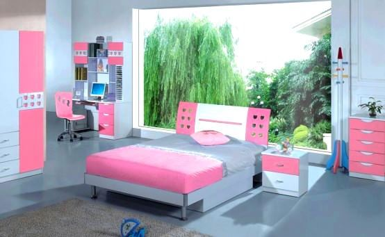 Pembe Renkli Kız Çocuk Odası Modelleri 2