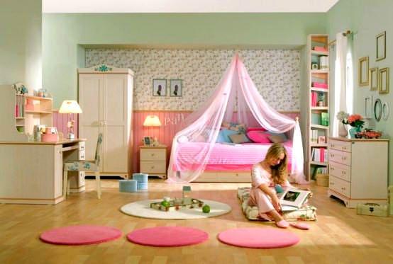 Pembe Renkli Kız Çocuk Odası Modelleri 4