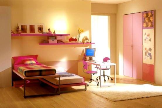 Pembe Renkli Kız Çocuk Odası Modelleri 5